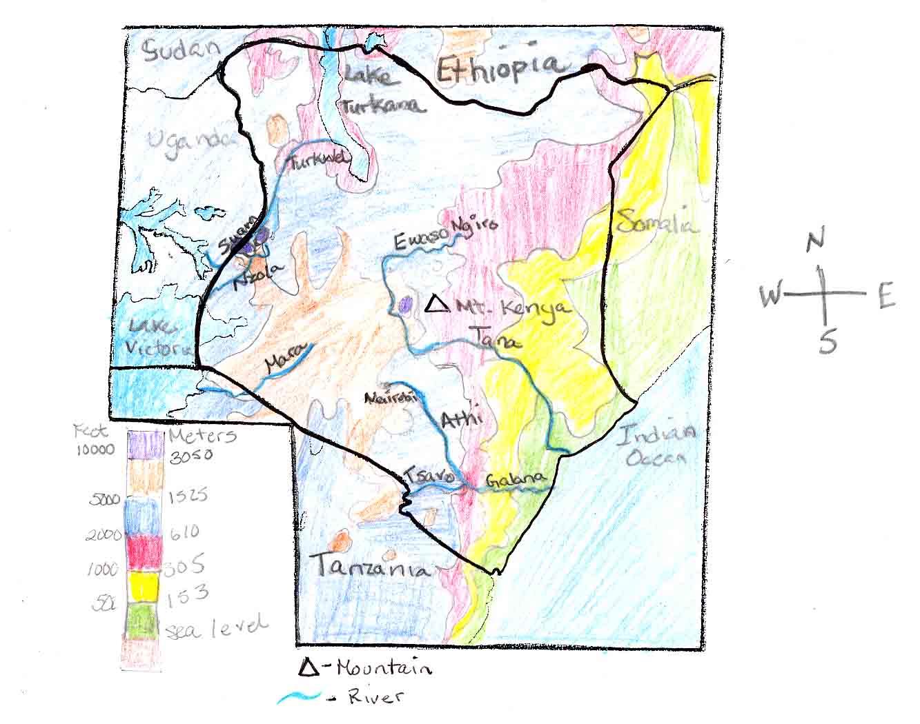 Ljhsjrichardson Licensed For Noncommercial Use Only Maps Of Kenya - Kenya rivers map